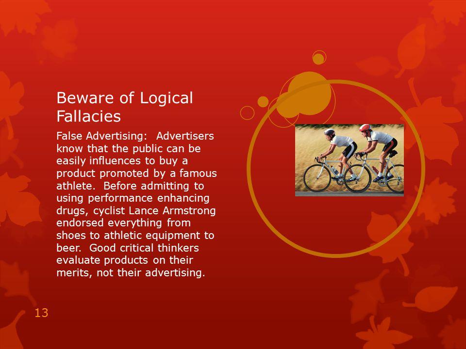 Beware of Logical Fallacies