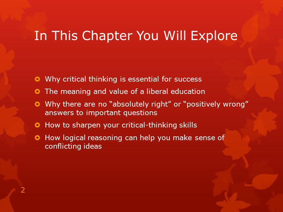 is critical thinking important in education