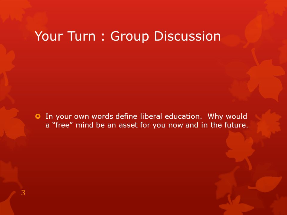 Your Turn : Group Discussion
