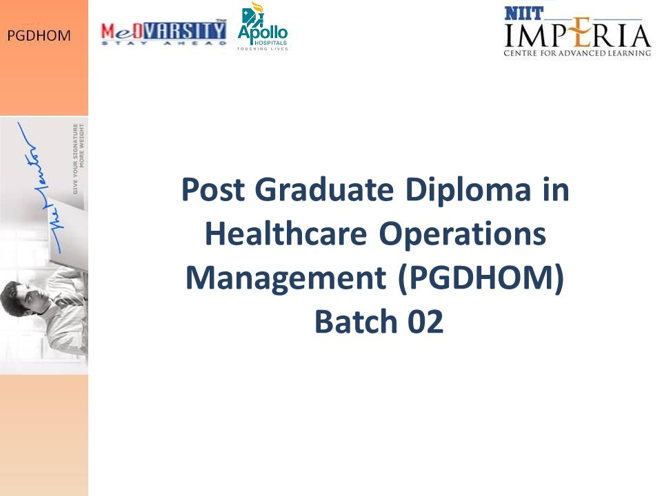 Post Graduate Diploma in Healthcare Operations