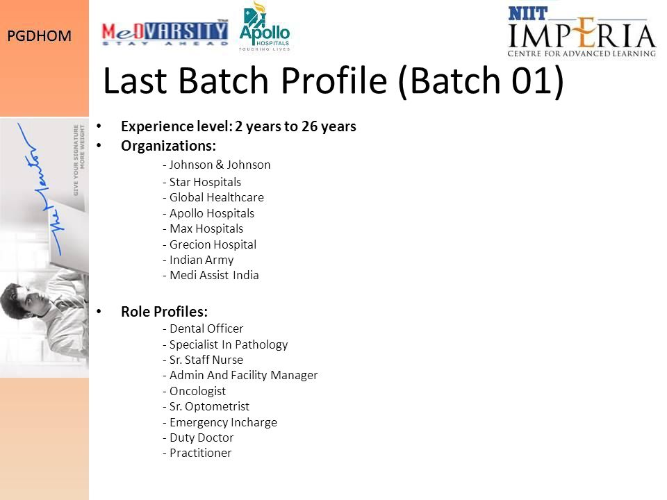 Last Batch Profile (Batch 01)