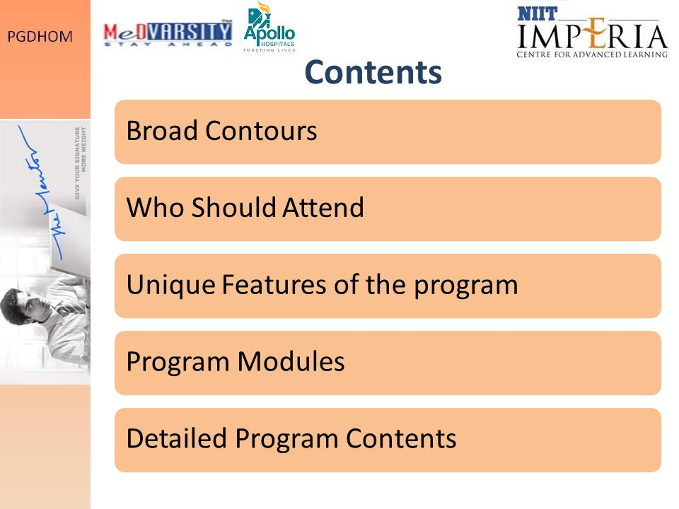 Contents Broad Contours Who Should Attend