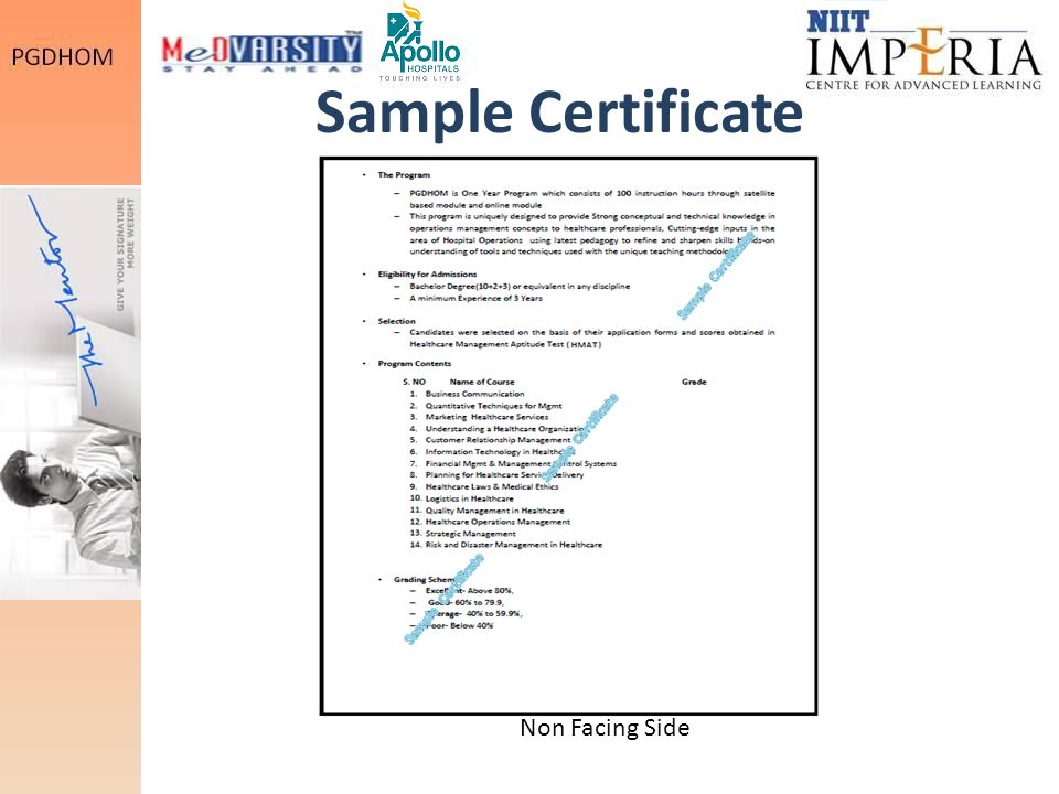 Sample Certificate Sample Certificate Sample Certificate