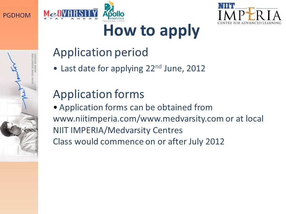 How to apply Application period Application forms