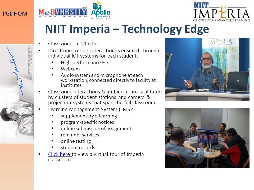 NIIT Imperia – Technology Edge