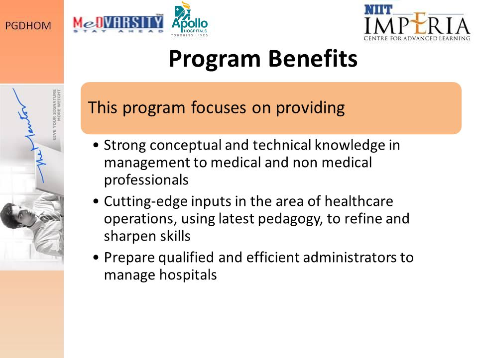 Program Benefits This program focuses on providing