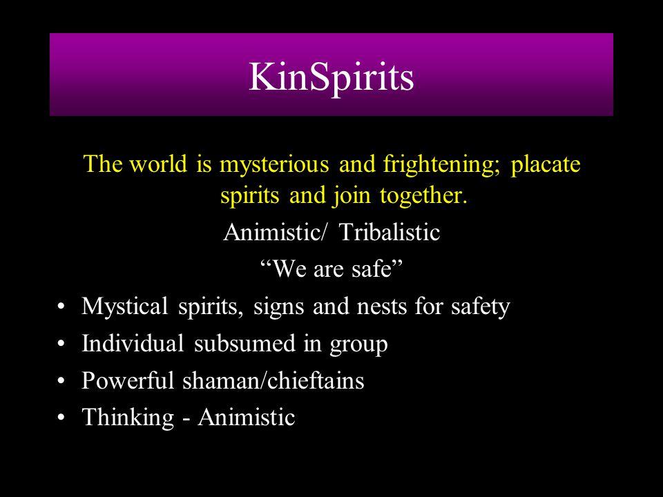 Animistic/ Tribalistic