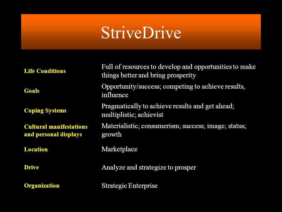 StriveDrive Strategic Enterprise. Organization. Analyze and strategize to prosper. Drive. Marketplace.