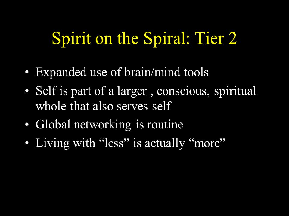 Spirit on the Spiral: Tier 2