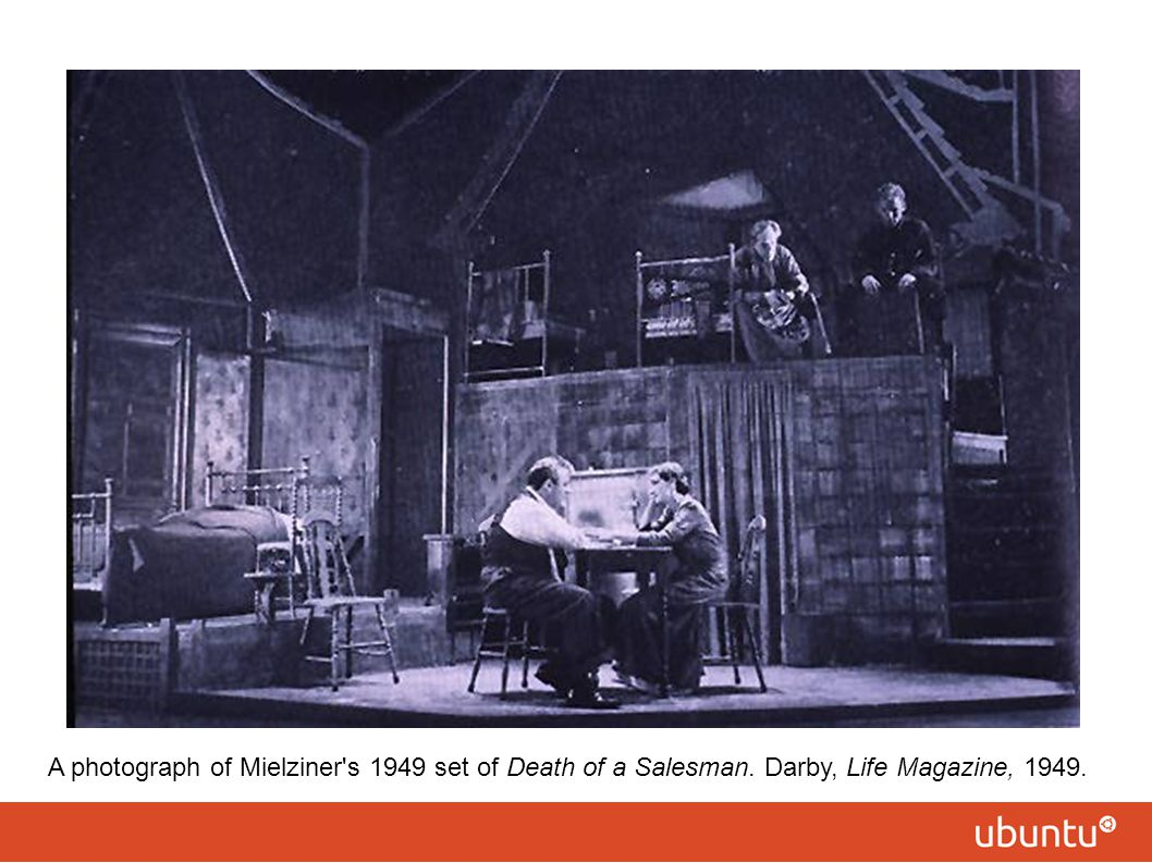 A photograph of Mielziner s 1949 set of Death of a Salesman