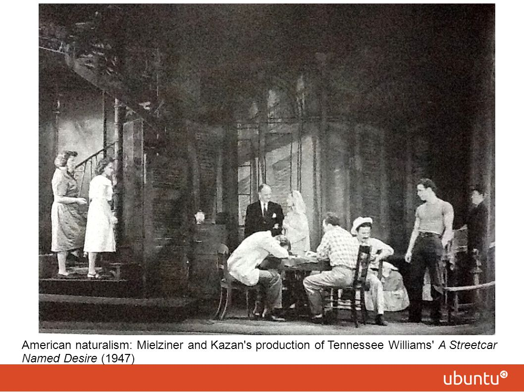 American naturalism: Mielziner and Kazan s production of Tennessee Williams A Streetcar Named Desire (1947)