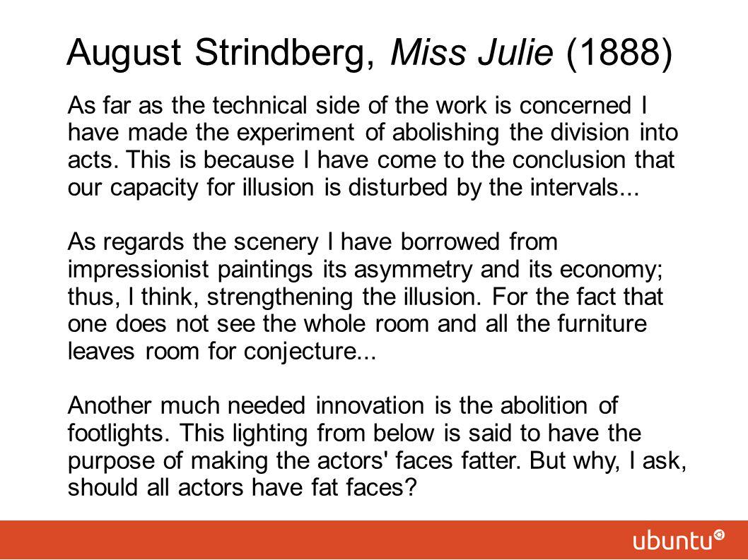 August Strindberg, Miss Julie (1888)