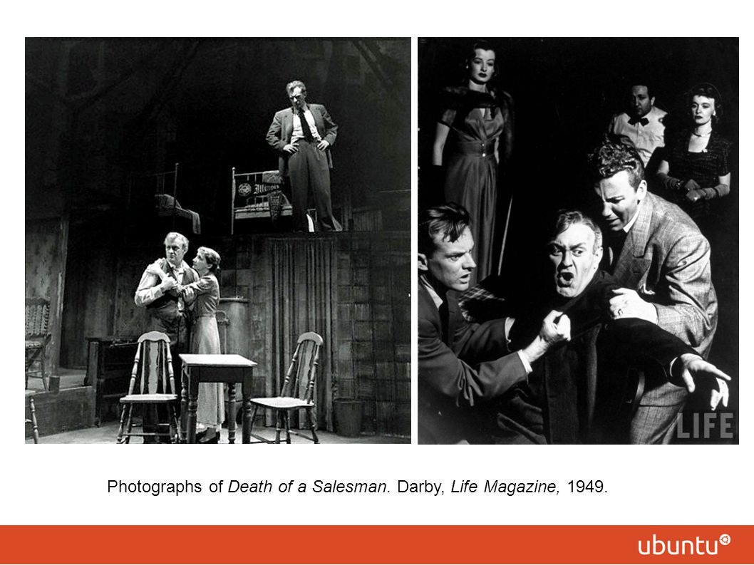 Photographs of Death of a Salesman. Darby, Life Magazine, 1949.