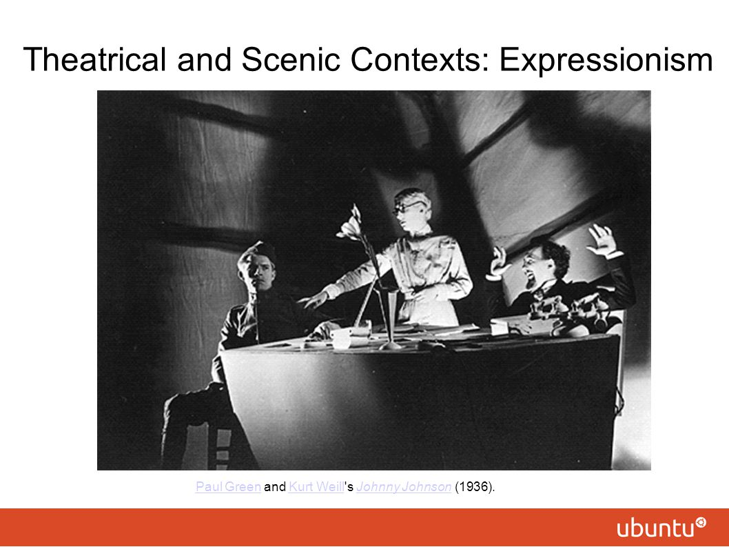 Theatrical and Scenic Contexts: Expressionism