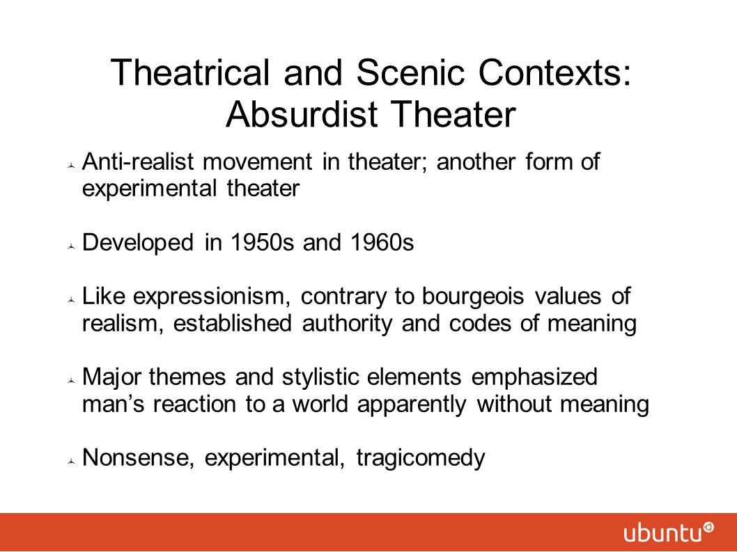 Theatrical and Scenic Contexts: