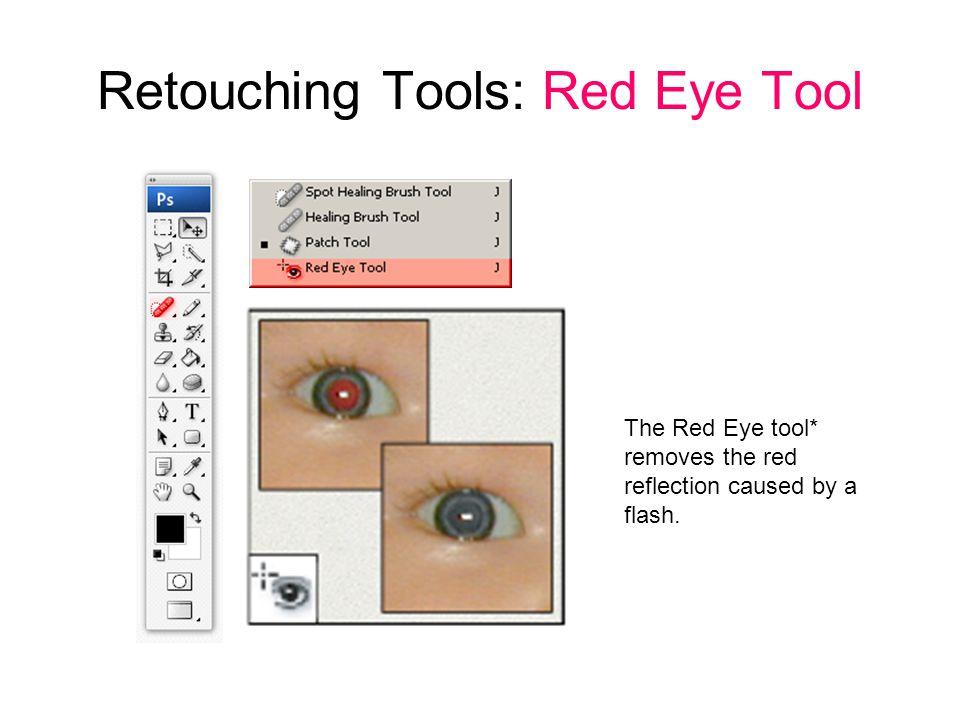 Retouching Tools: Red Eye Tool
