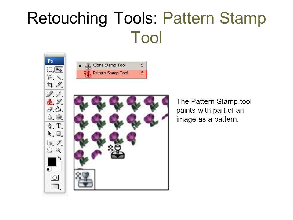 Retouching Tools: Pattern Stamp Tool