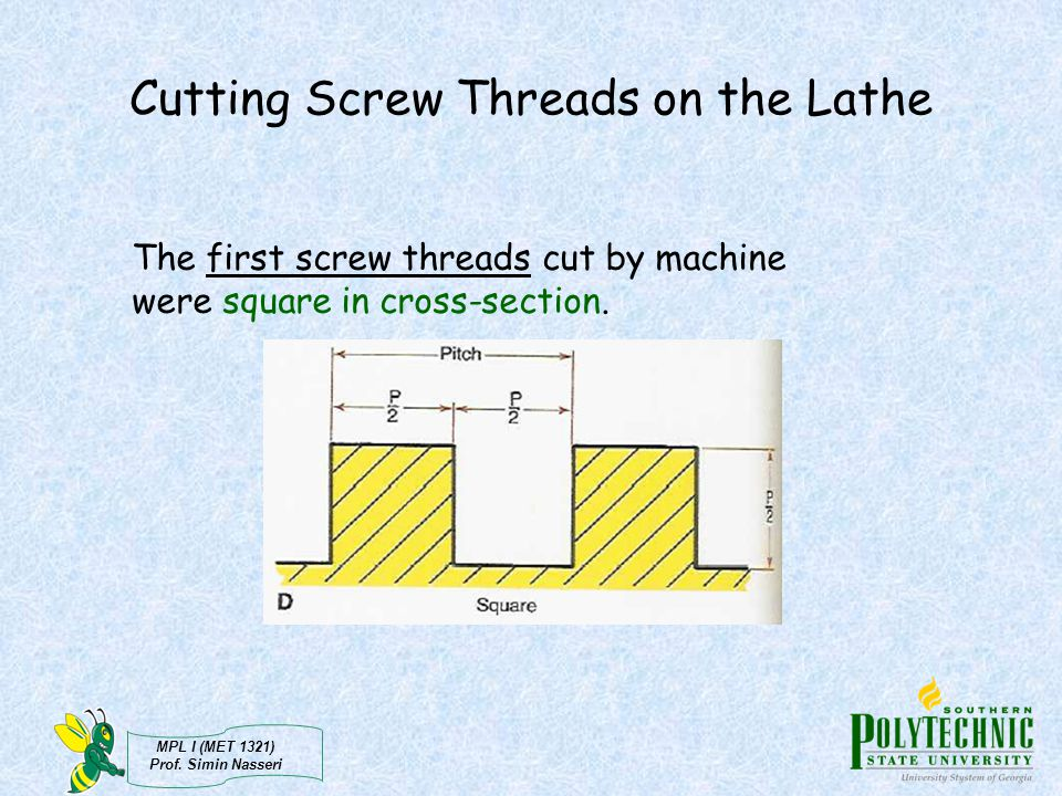 Cutting Screw Threads on the Lathe