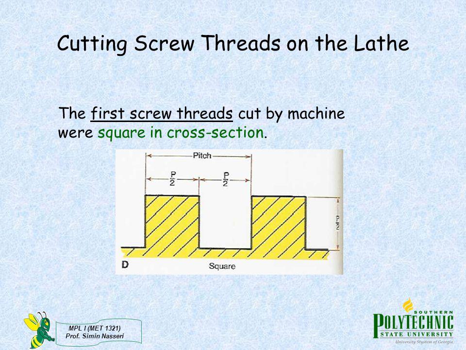 Cutting Screw Threads on the Lathe