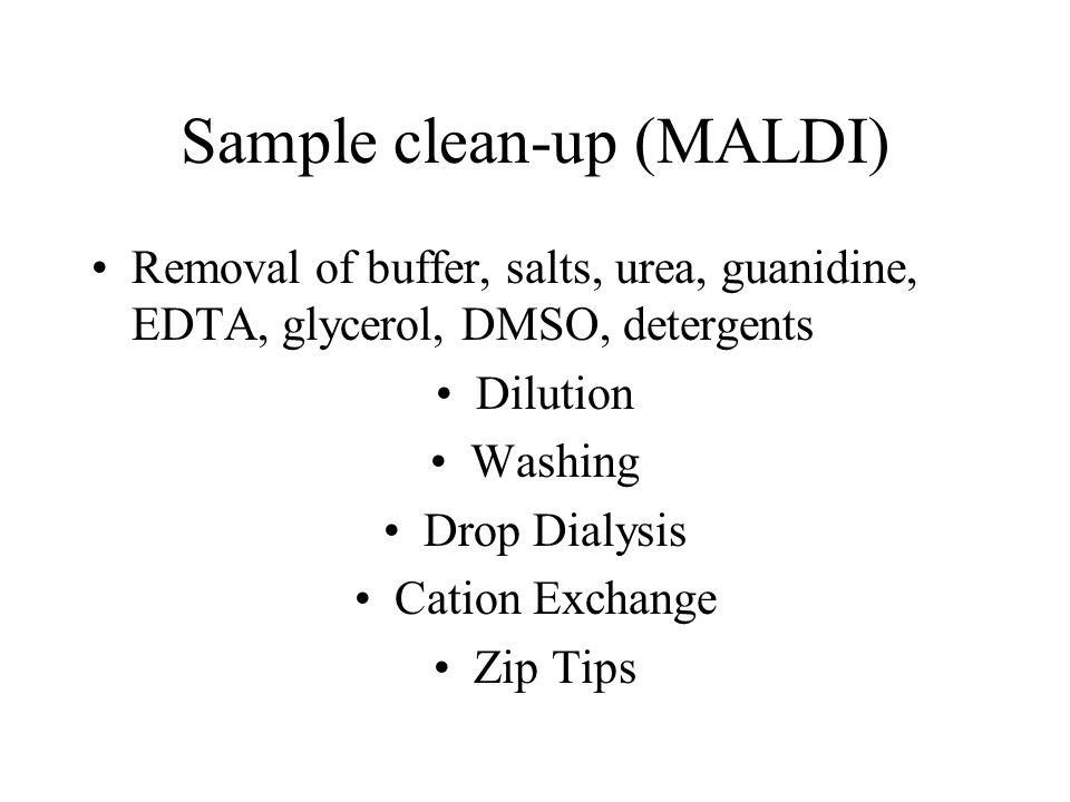 Sample clean-up (MALDI)