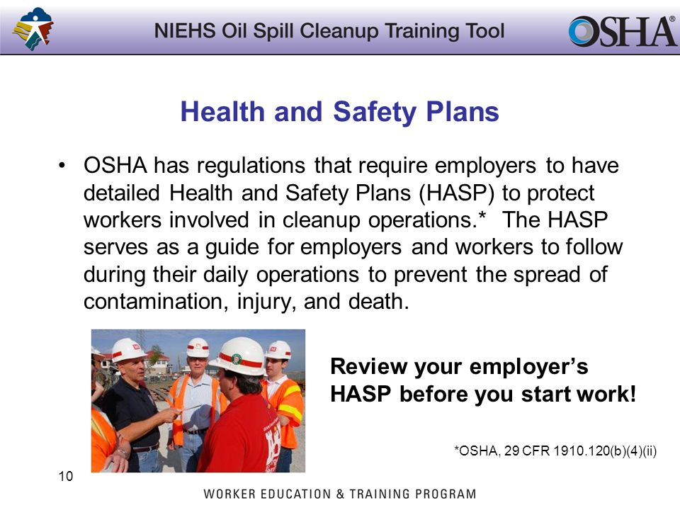 Health and Safety Plans