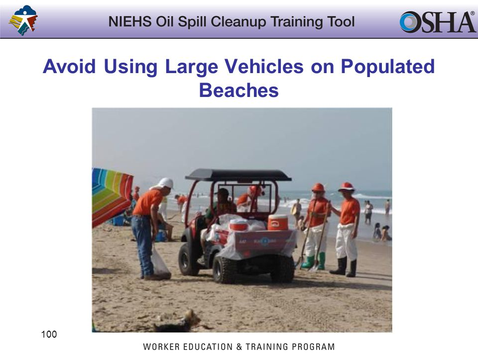 Avoid Using Large Vehicles on Populated Beaches
