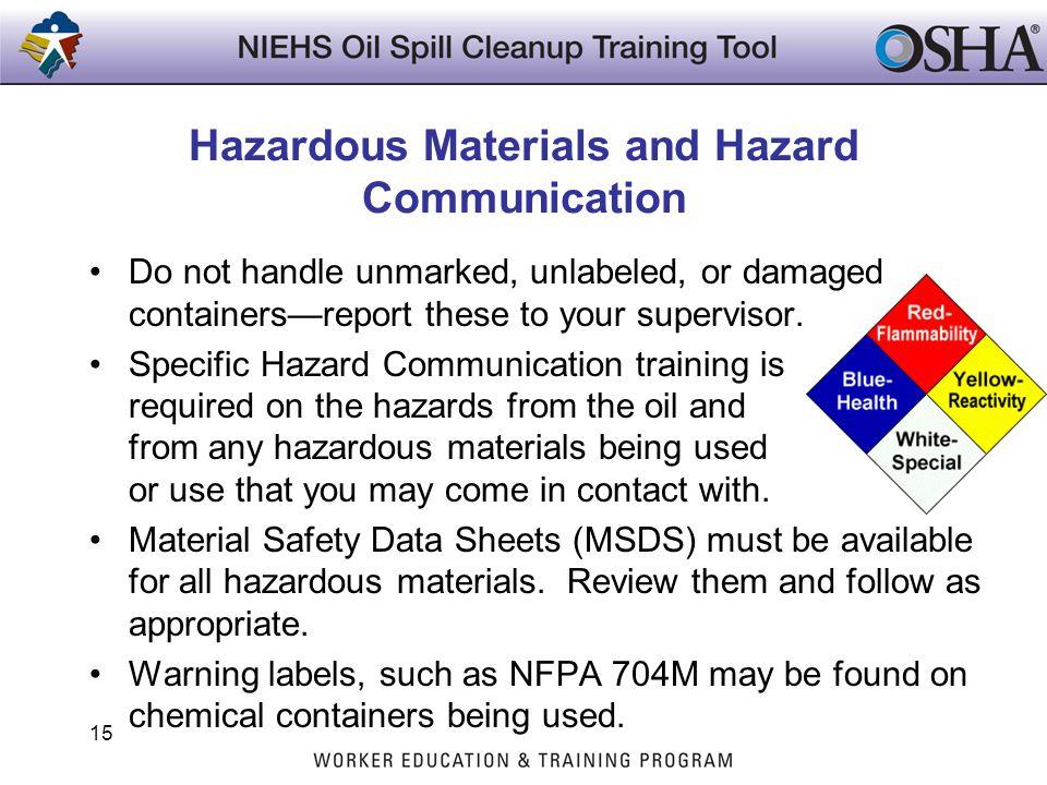 Hazardous Materials and Hazard Communication