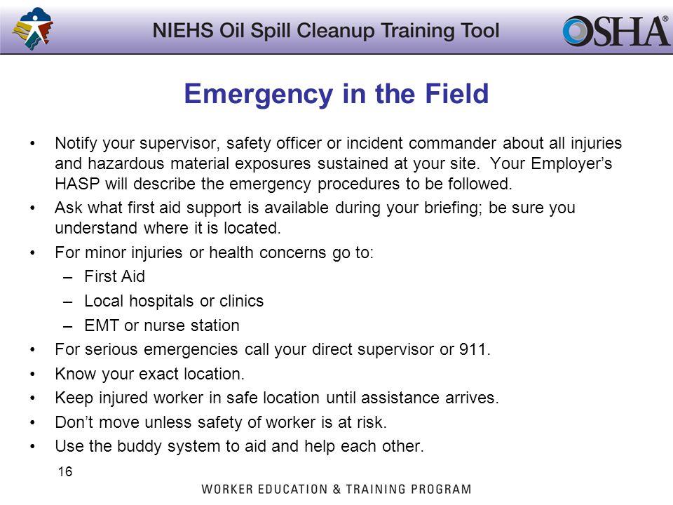Emergency in the Field