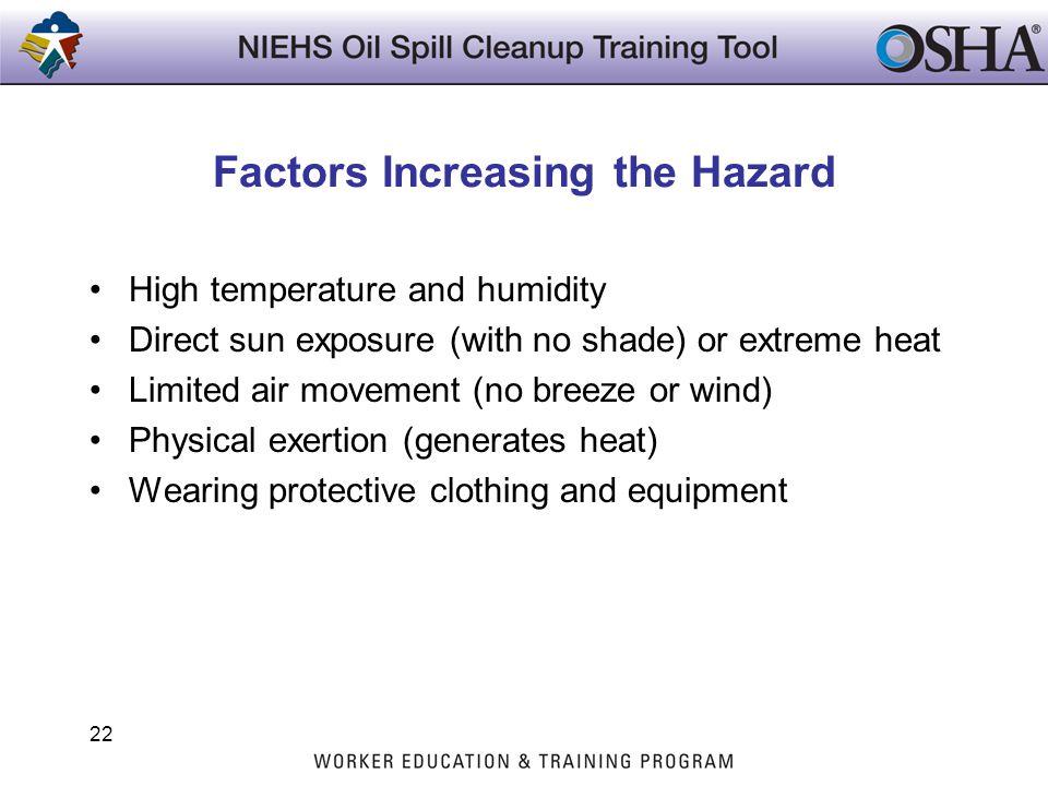 Factors Increasing the Hazard