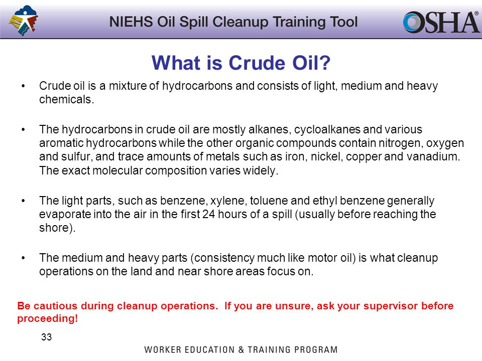 What is Crude Oil Crude oil is a mixture of hydrocarbons and consists of light, medium and heavy chemicals.