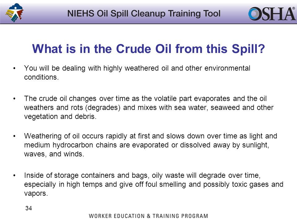 What is in the Crude Oil from this Spill