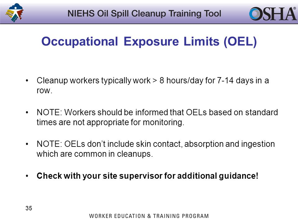 Occupational Exposure Limits (OEL)