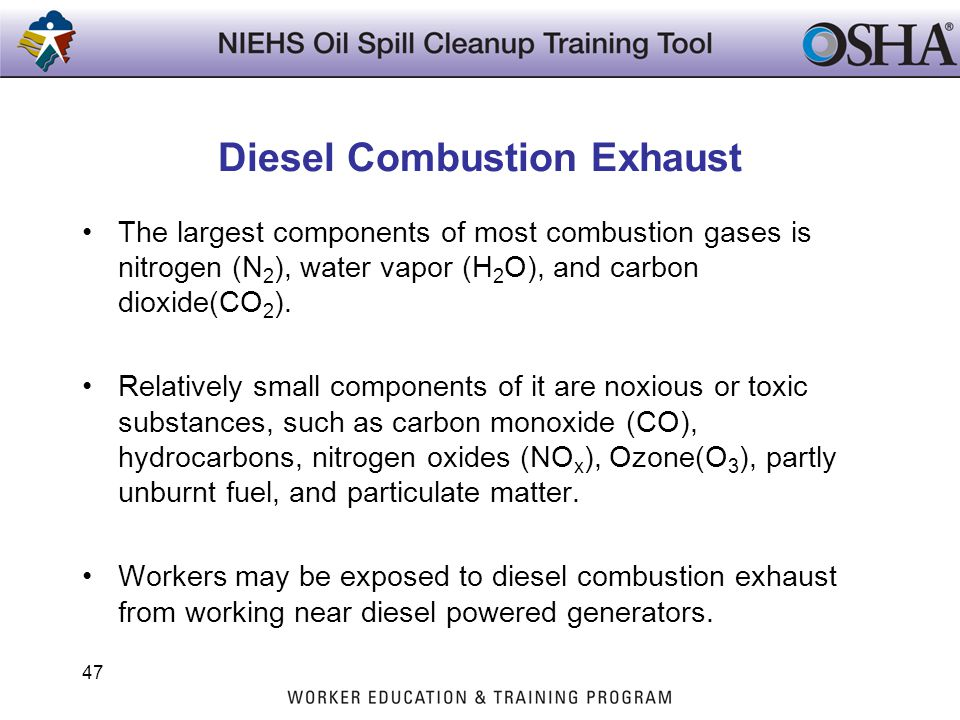Diesel Combustion Exhaust