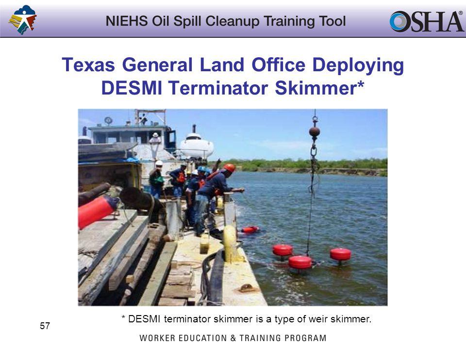 Texas General Land Office Deploying DESMI Terminator Skimmer*