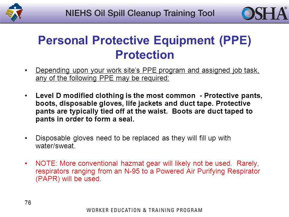 Personal Protective Equipment (PPE) Protection