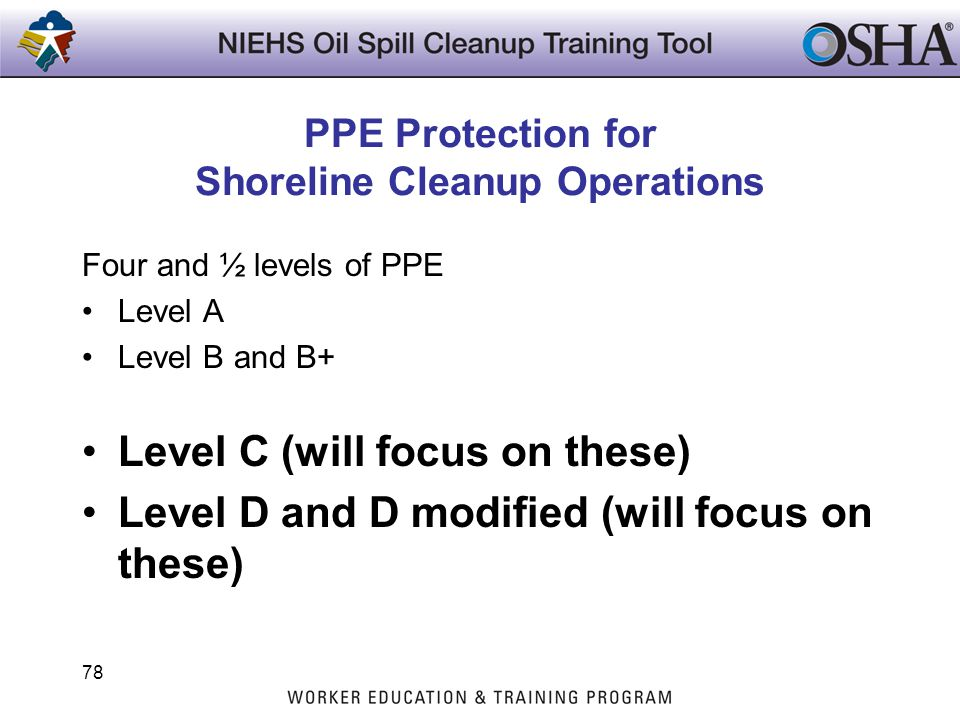 PPE Protection for Shoreline Cleanup Operations