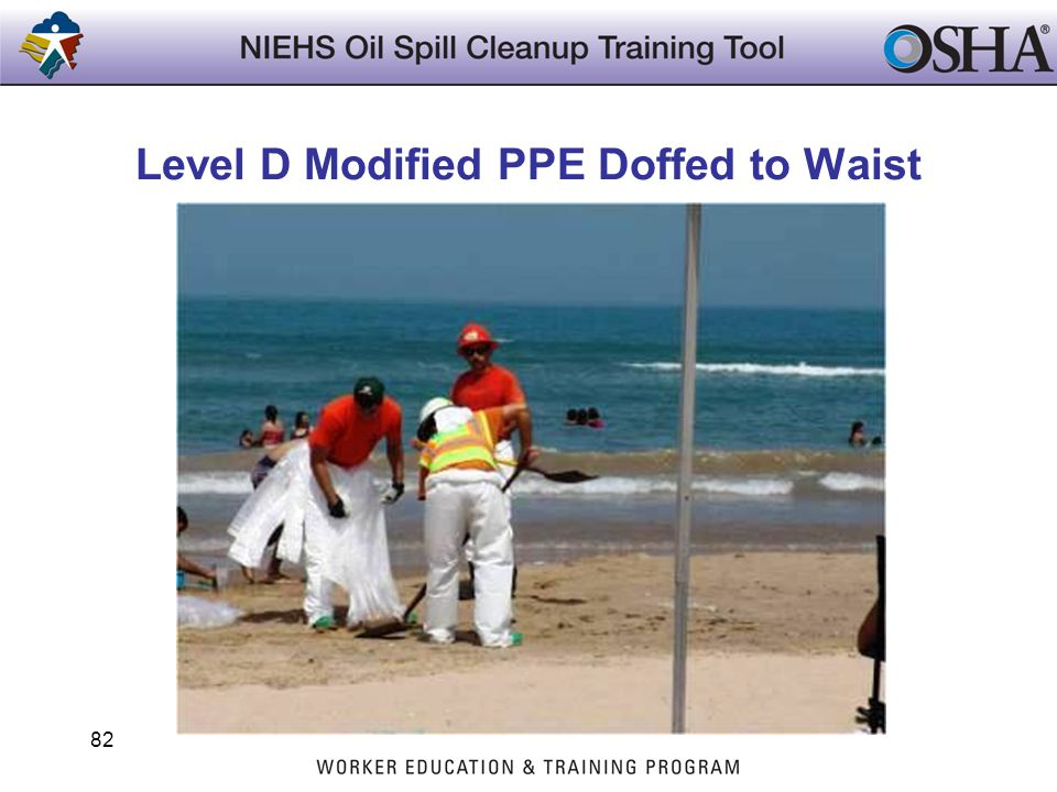 Level D Modified PPE Doffed to Waist