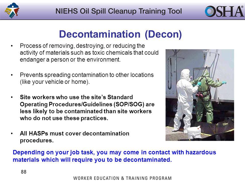 Decontamination (Decon)