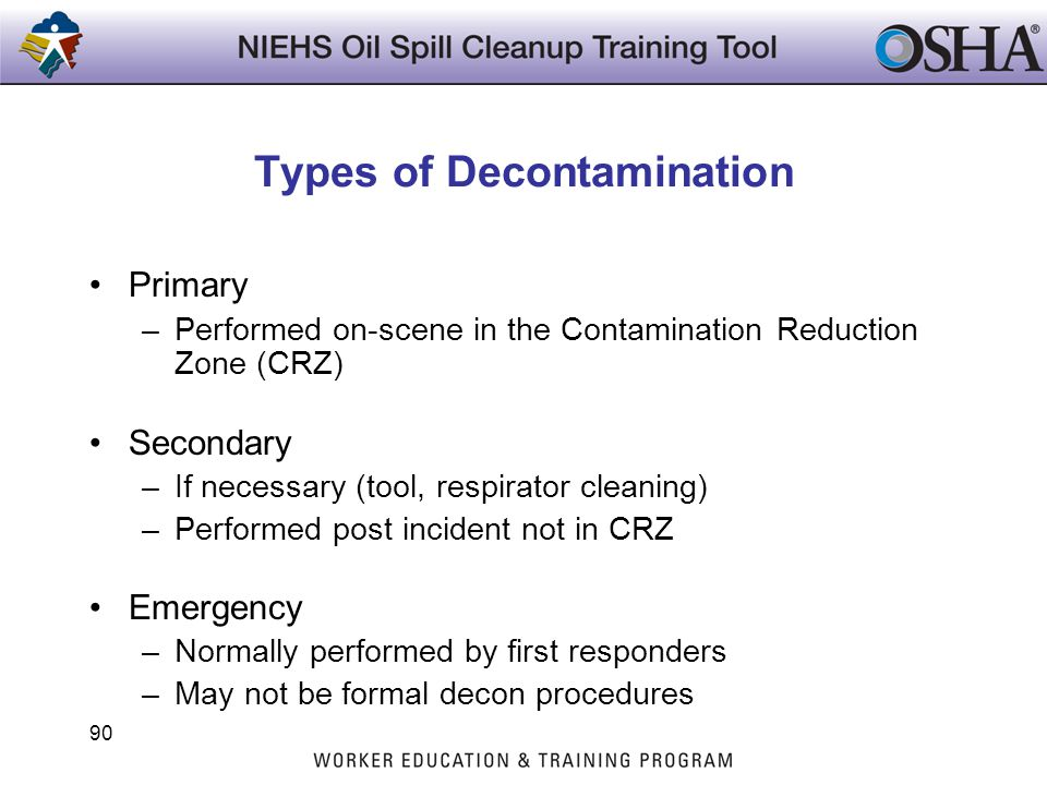 Types of Decontamination