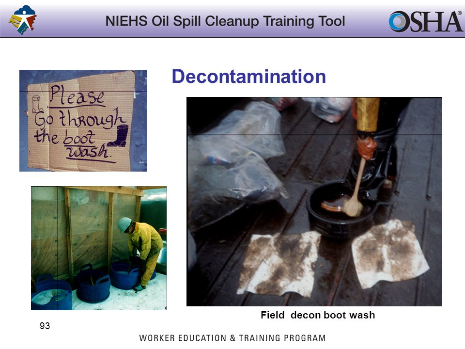 Decontamination Trainers Notes: Field decon boot wash