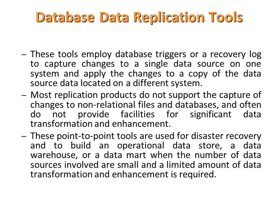 Database Data Replication Tools