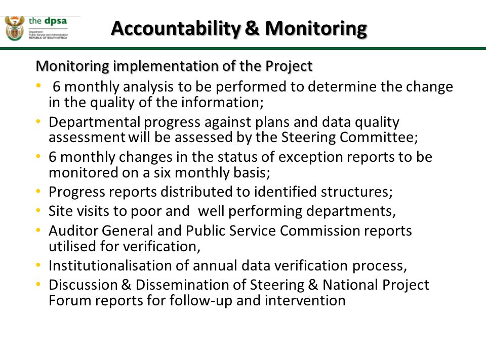 Accountability & Monitoring