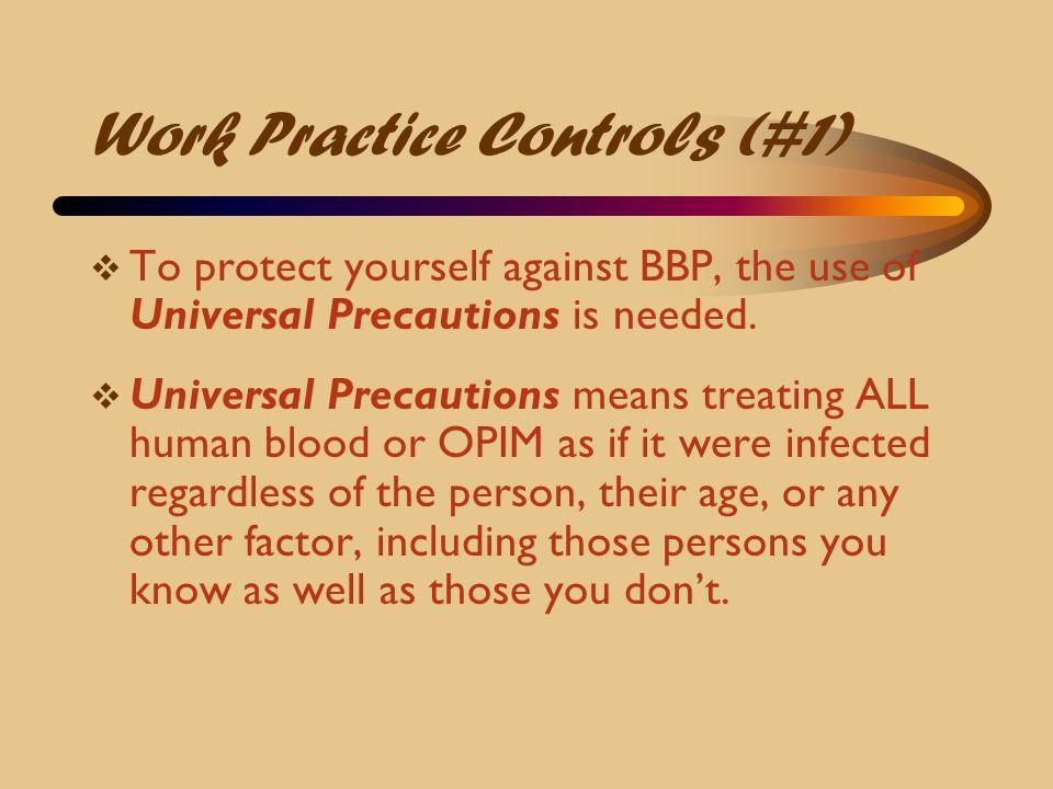Work Practice Controls (#1)