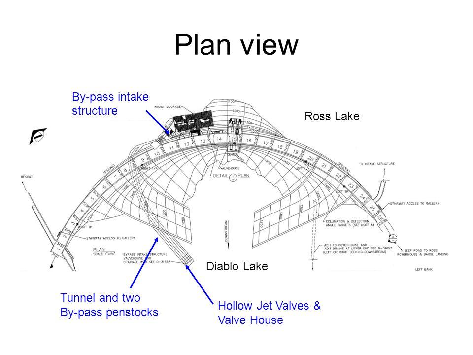 Plan view By-pass intake structure Ross Lake Diablo Lake