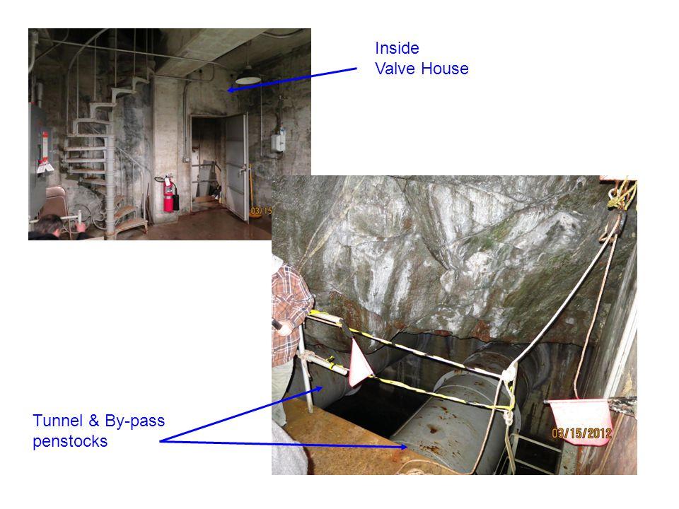 Inside Valve House Tunnel & By-pass penstocks