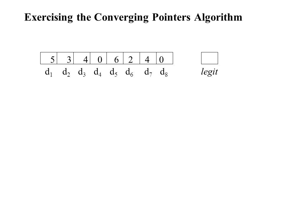 Exercising the Converging Pointers Algorithm