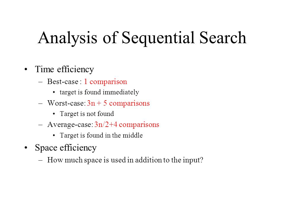 Analysis of Sequential Search