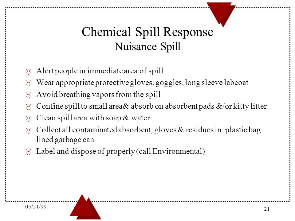 Chemical Spill Response Nuisance Spill