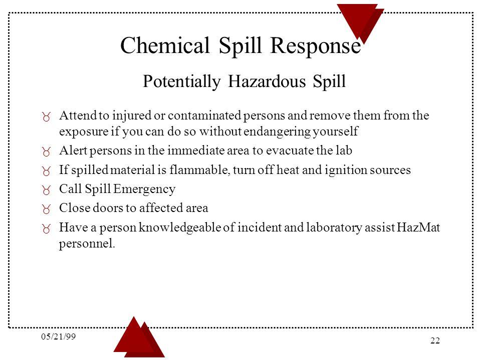 Chemical Spill Response Potentially Hazardous Spill