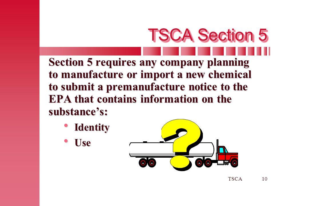 TSCA Section 5